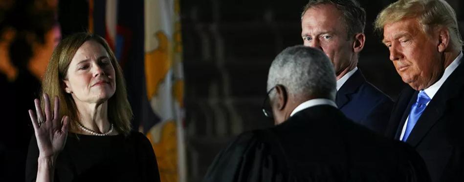 ترامب: تعيين باريت يوم تاريخي.. والقاضية: سأمارس مهامي بمعزل عن توجهاتي