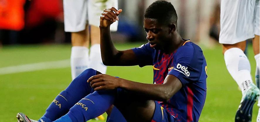 4 أندية أوروبية تتسابق لضم ديمبلي لاعب برشلونة