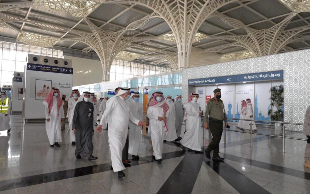 رئيس الطيران المدني يتفقد مطار الأمير محمد بن عبدالعزيز الدولي في المدينة المنورة