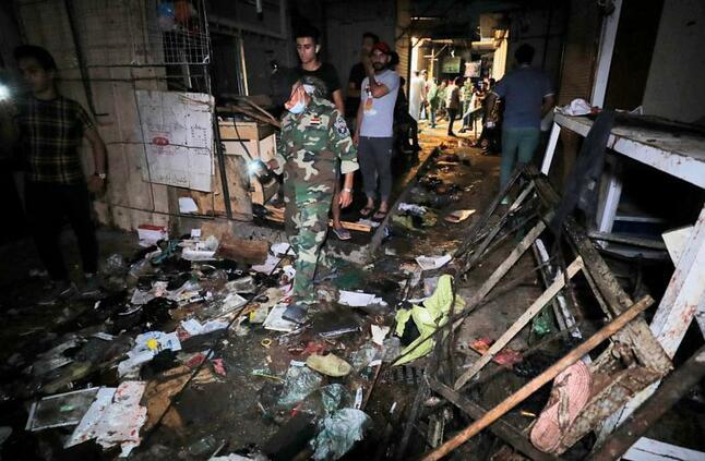 30 قتيلًا على الأقل في هجوم دامٍ بسوق في بغداد