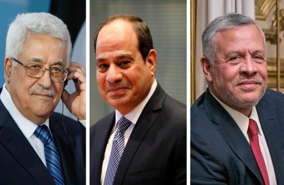القمة الثلاثية تؤكد المواقف الثابتة لمصر والأردن بدعم دولة فلسطين