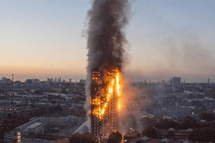 Grenfell Tower on Fire - June 14, 2017