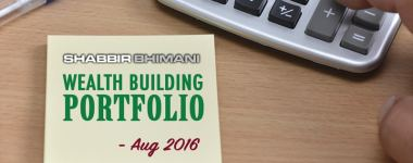 My Wealth Building Portfolio Report And Update – August 2016