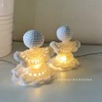 Graziose lanternine Natalizie all'uncinetto