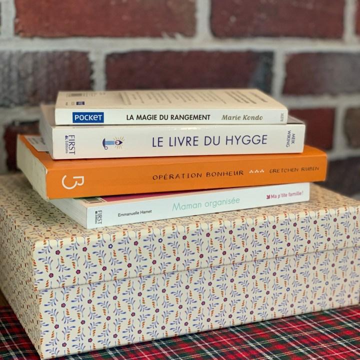 Mes lectures pour m'organiser et vivre heureuse au quotidien