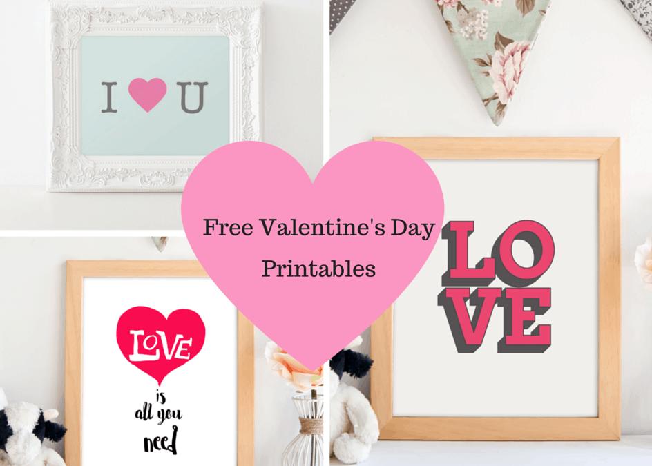 13 FREE Valentine's Day Printables