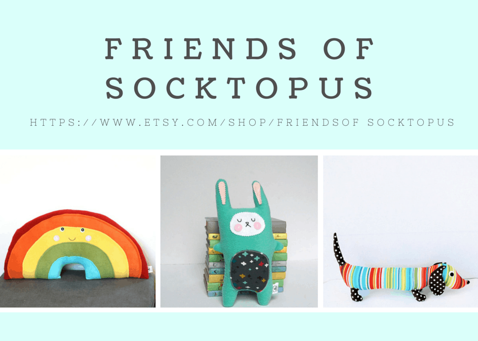 S{etsy}day : Friends of Socktopus + Free Printable from My Etsy Shop!