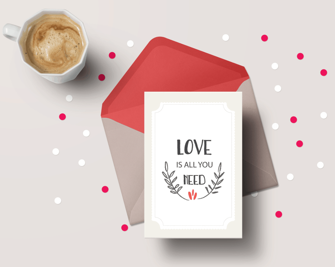 Valentine's Day card- Love is all younee