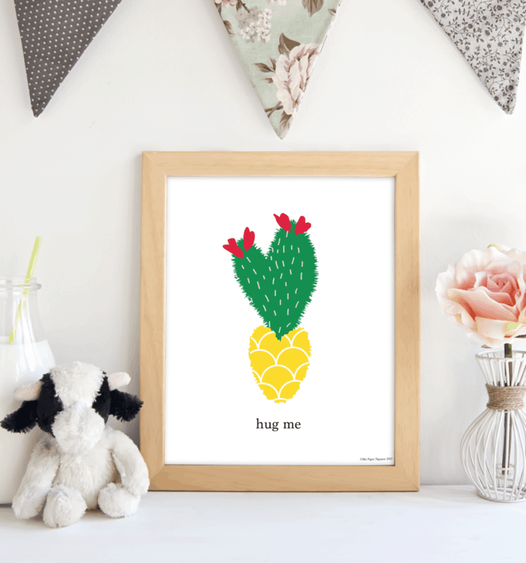 Pineapple Cactus.shabbymintchicparty.etsy.com