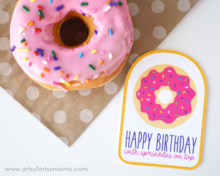Donut theme party tag