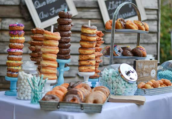 donut theme party donut holder