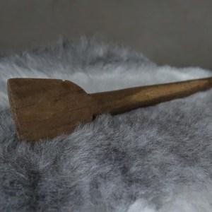 Shabbys-Stoer in wonen-Stoer en sober lange oude houten spatel/lepel