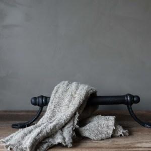 Shabbys-Stoer in wonen-Stoer smeedijzeren handdoekrek, zwart