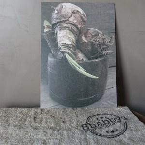 Shabbys-Stoer in wonen-Stoere kaart afbeelding houten pot met bollen