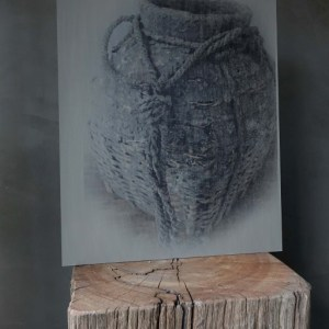 Shabbys-Stoer in wonen-Kalkverf schilderspaneel, vismand groot, sobere en stoere stijl
