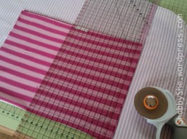 Measuring and cutting fabric using a rotary cutter