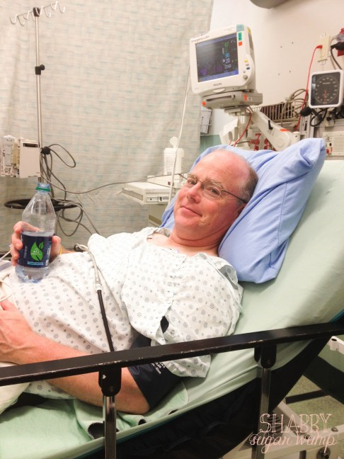 Joe at the hospital