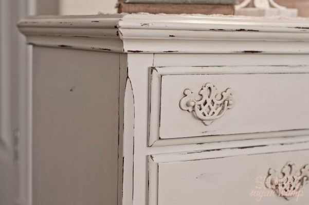 shabby chic end table after