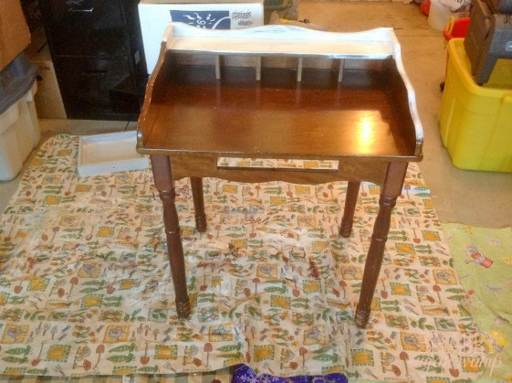 shabby chic mail table