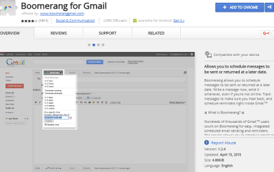 Boomerang for gmail best chrome extension