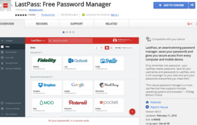 lastpass best chrome extension