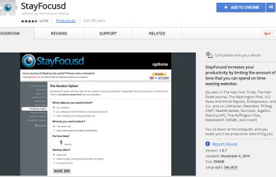 stayfocusd best chrome extension