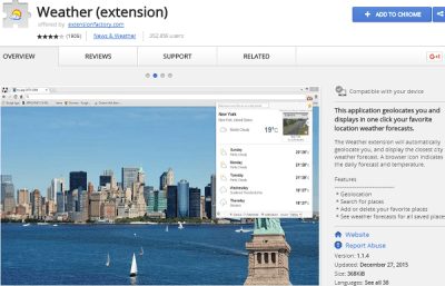 weather best chrome extension