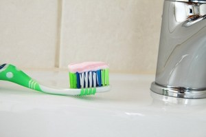 Fluoride in toothpaste and mouthwash