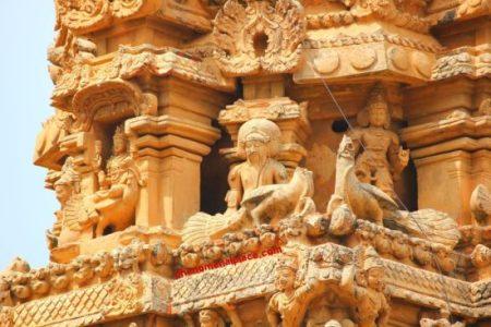 Brihadeeswarar Temple carvings on wall