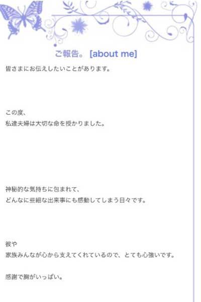 豊田エリー 妊娠 ブログ