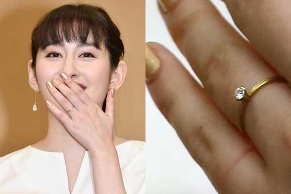 早見あかり 結婚指輪