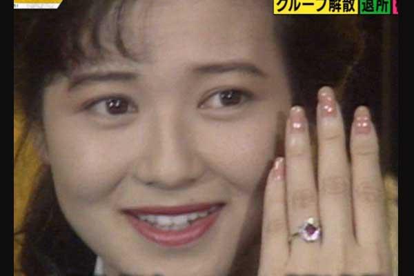 石川秀美 婚約指輪