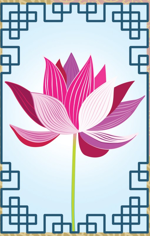 Zen Lotus lamp panel image