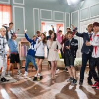 Check out SNSD YoonA's BTS pictures from their SK Telecom CF with EXO and f(x) Sulli
