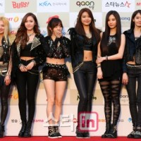 SNSD at the red carpet event of the 3rd Gaon Chart K-Pop Awards