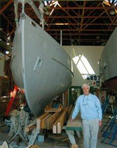 building his boat in Mystic, CT
