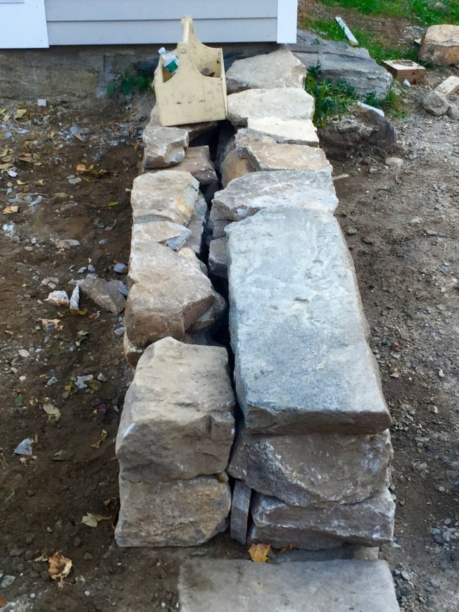 fragment: new retaining wall