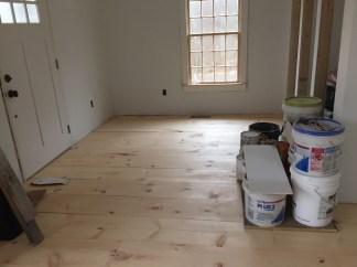 wide pine floors