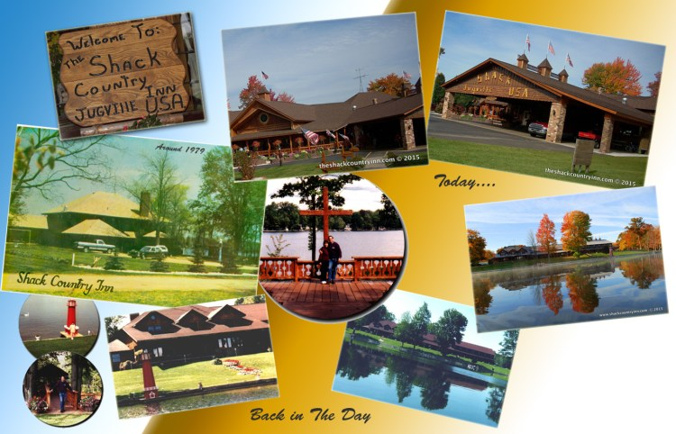 history of shack collage - images