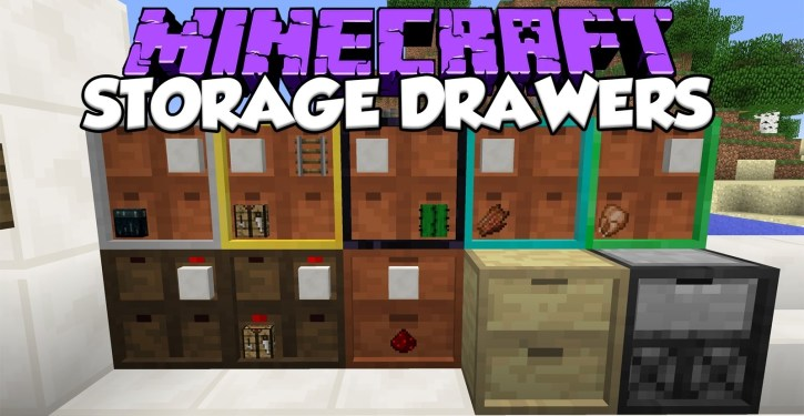Storage Drawers Mod for Minecraft 1 12 2/1 11 2 | Shaders Mods
