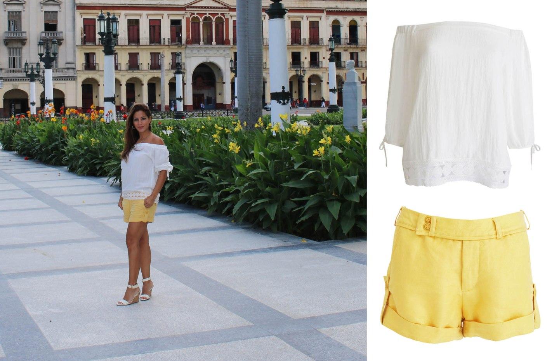 havana-cuba-yellow-linen-shorts