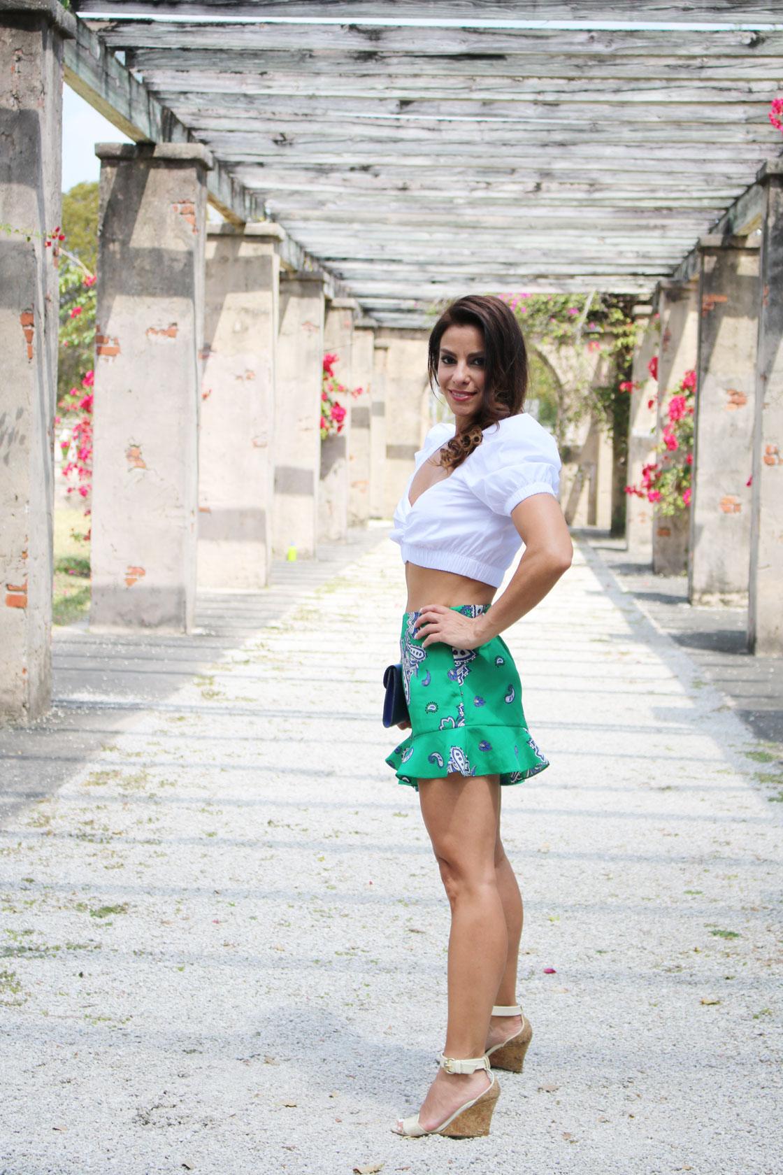 zara bermuda shorts crop top