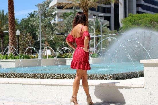 tularosa red brinley dress back