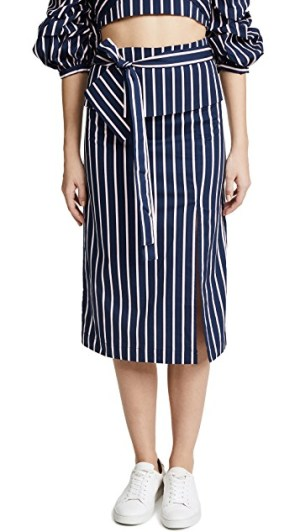 J.O.A Navy Stripe Skirt