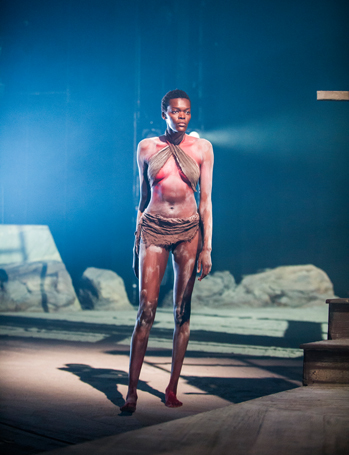 Sheila Atim (Woman) in Les Blancs by Lorraine Hansberry @ Olivier, National Theatre. Directed by Yael Farber. (Opening 30-03-16) ©Tristram Kenton 03/16 (3 Raveley Street, LONDON NW5 2HX TEL 0207 267 5550 Mob 07973 617 355)email: tristram@tristramkenton.com