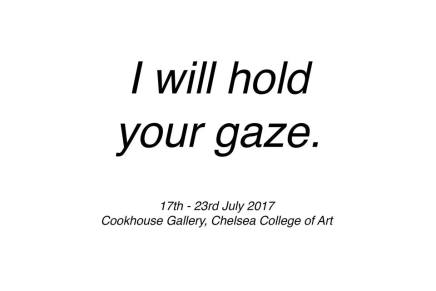 I will hold your gaze: Trans and Non-Binary Exhibition
