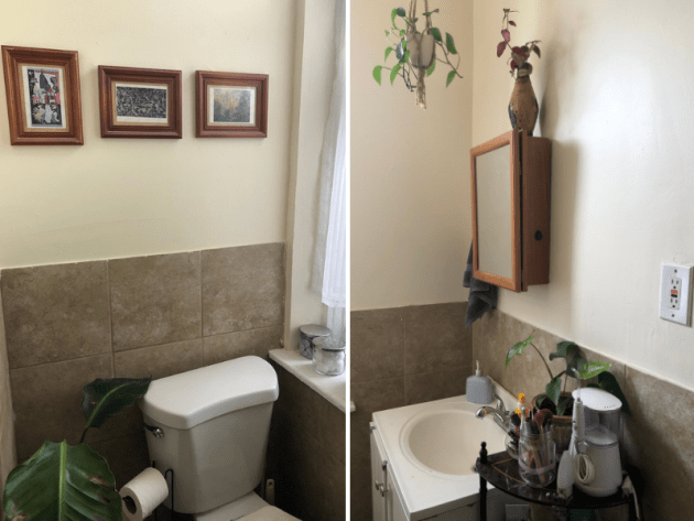 Small Apartment Bathroom | Shades of Sarah