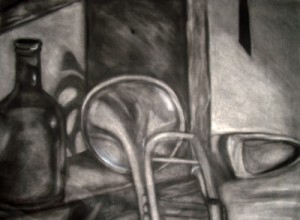 Charcoal Still Life