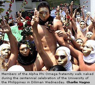 100 Naked Students run in Oblation 2008 (1/6)
