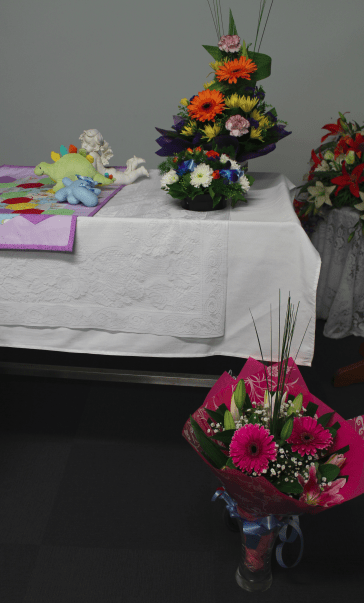 image of funeral flowers